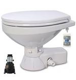 37245-4192 JABSCO QUIET FLUSH ELECTRIC TOILET REG BOWL 12V SOFT CLOSE SEAT & COVER