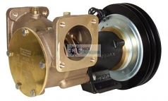 """50270-0011 JABSCO ELECTRIC CLUTCH PUMP 2"""" 12v TWIN GROOVE 'A' SECTION PULLEY"""