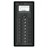 BLUE SEA 1463 SWITCH PANEL 8 POSITION 12V DC with V/METER